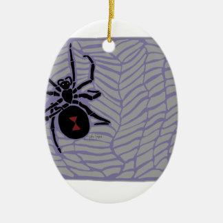 Araignée de veuve noire ornement ovale en céramique