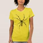 Araignée d'or de globe t-shirt