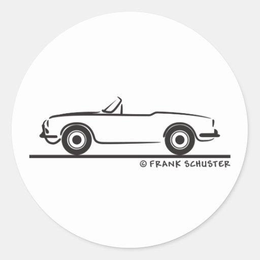 Araignée Duetto d'Alfa Romeo Giulia Adhésif Rond
