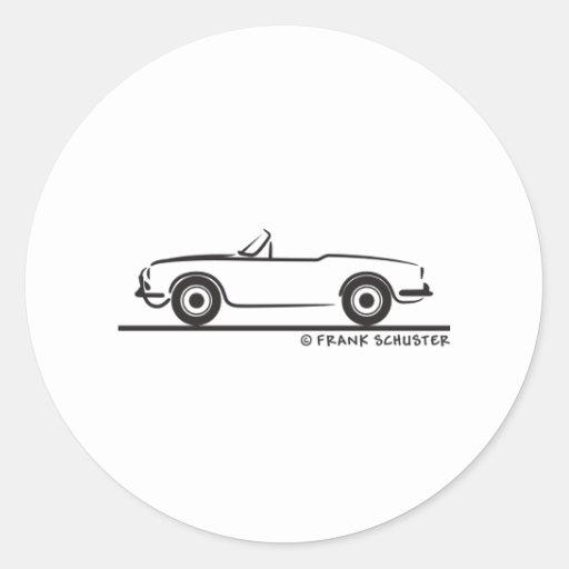 Araignée Duetto d'Alfa Romeo Giulia Autocollant Rond