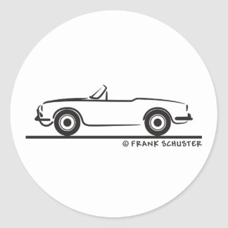 Araignée Duetto d'Alfa Romeo Giulia Sticker Rond