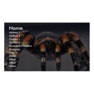 Araignée effrayante de tarentule carte de visite standard
