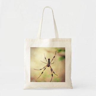 Araignée en soie d'or de tisserand de globe sac