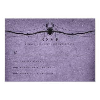 Araignée gothique Halloween épousant RSVP Carton D'invitation 8,89 Cm X 12,70 Cm