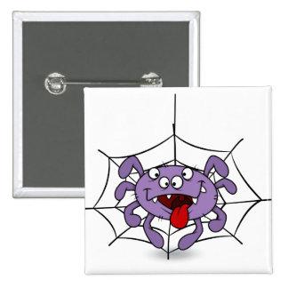 Araignée pourpre idiote de bande dessinée badges