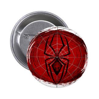 Araignée tribale badge rond 5 cm