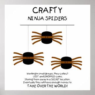 Araignées de Ninja Affiches