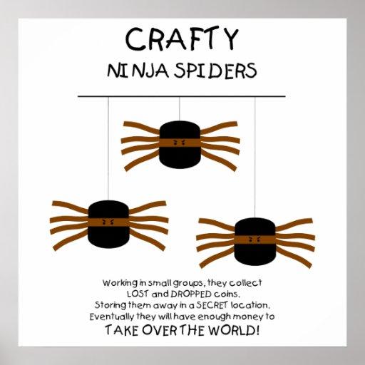 Araignées de Ninja ! Affiches