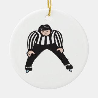 Arbitre d'hockey ornement rond en céramique