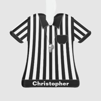 Arbitre noir et uniforme rayé blanc personnalisé