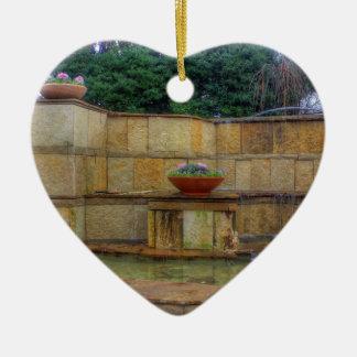 Arborétum de Dallas et entrée de jardins Ornement Cœur En Céramique