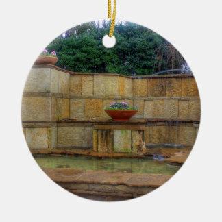 Arborétum de Dallas et entrée de jardins Ornement Rond En Céramique