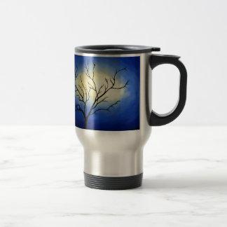 Arbre abstrait - art moderne mug de voyage