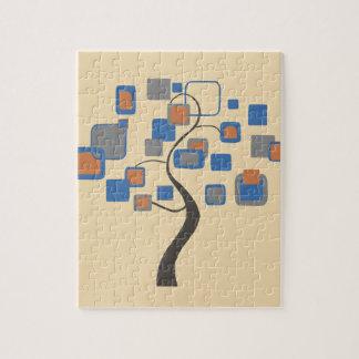 Arbre abstrait des chiffres colorés puzzle