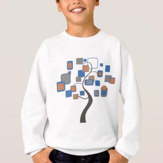 Arbre abstrait des chiffres colorés sweatshirt