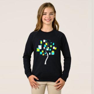 Arbre abstrait des chiffres métal sweatshirt