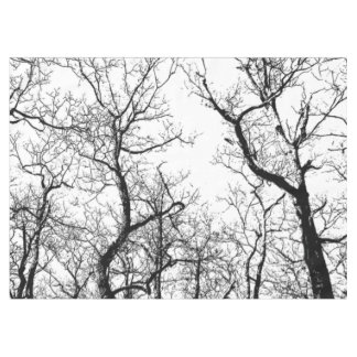 Arbre abstrait noir et blanc de nappe