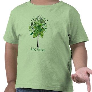 Arbre abstrait vert t-shirt