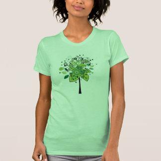 Arbre abstrait vert t-shirts