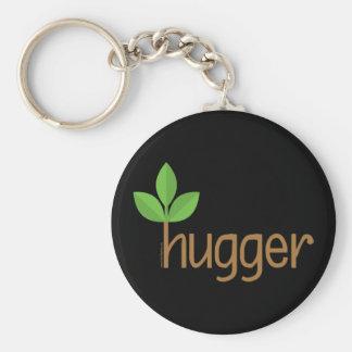 Arbre amical Hugger d'Eco Porte-clé Rond