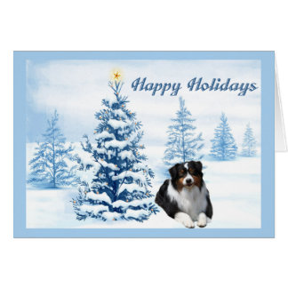 Arbre australien de bleu de carte de Noël de