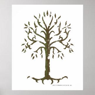 Arbre blanc de Gondor Posters