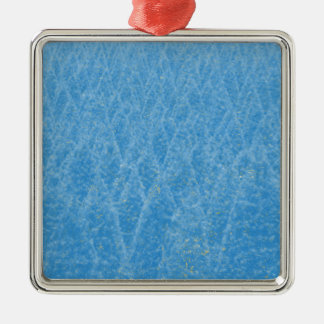 arbre bleu ornement carré argenté