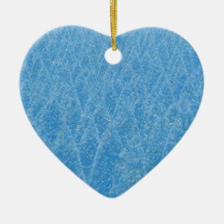 arbre bleu ornement cœur en céramique