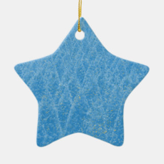 arbre bleu ornement étoile en céramique