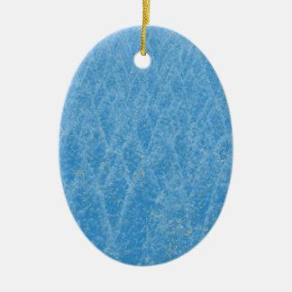 arbre bleu ornement ovale en céramique