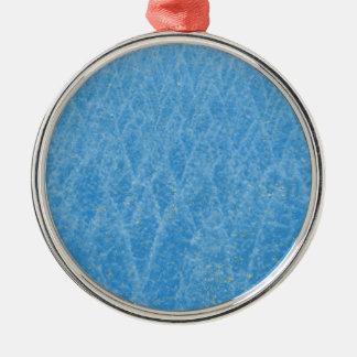 arbre bleu ornement rond argenté