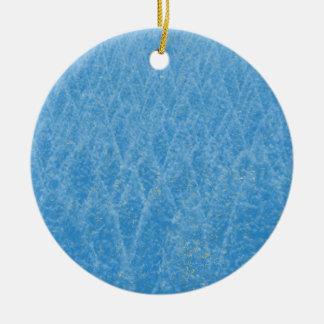 arbre bleu ornement rond en céramique