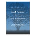Arbre bleu rustique des invitations de Mitzvah de