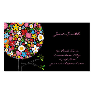 arbre Businesscard de bruit de fleurs de ressort Carte De Visite