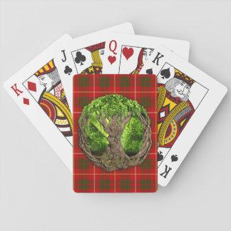 Arbre celtique de la vie et de tartan de Bruce de Jeux De Cartes