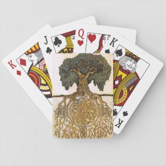 Arbre celtique de paquet de cartes de la vie jeu de cartes