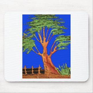 Arbre d'acacia de vert bleu de Hakuna Matata Eco Tapis De Souris