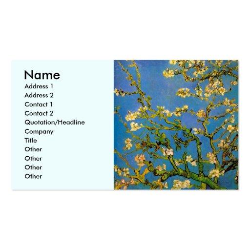 Arbre d'amande de floraison de Van Gogh, fleurs Modèle De Carte De Visite