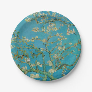 Arbre d'amande de floraison par Van Gogh Assiettes En Papier