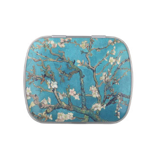 Arbre d'amande de floraison par Vincent van Gogh Boite Jelly Belly