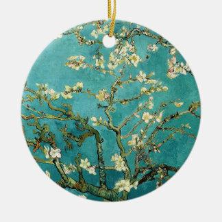Arbre d'amande de floraison Van Gogh floral Ornement Rond En Céramique