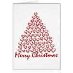 Arbre d'amour de Noël Carte De Vœux