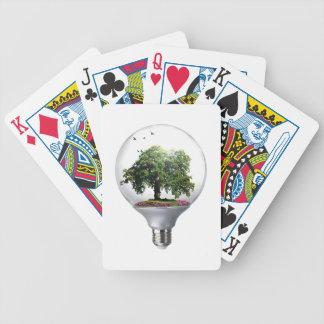 Arbre d'ampoule de diorama jeux de cartes