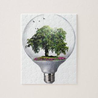 Arbre d'ampoule de diorama puzzle