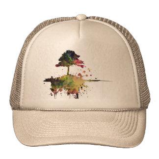 Arbre d'aquarelle casquette de camionneur