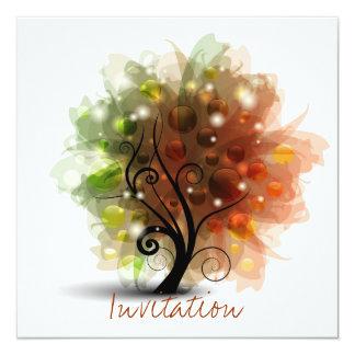 Arbre d'automne invitation personnalisable