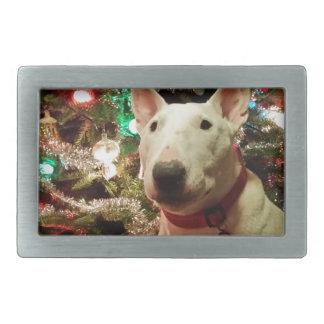 arbre de cadeau de Noël de bull-terrier Boucle De Ceinture Rectangulaire