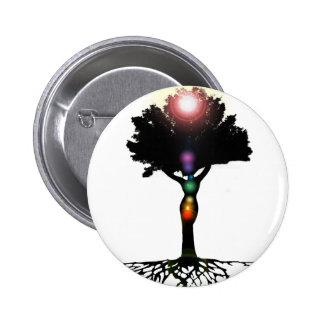 Arbre de Chakra Badge Avec Épingle