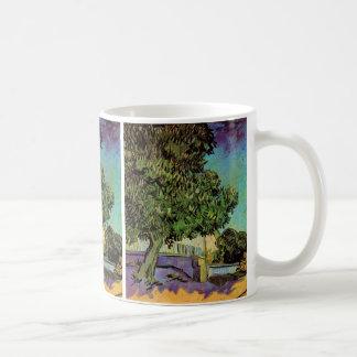 Arbre de châtaigne de Van Gogh en beaux-arts de Mug