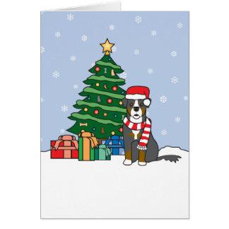 Arbre de chien et de Noël de montagne de Bernese Cartes